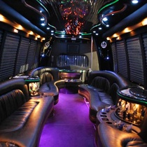 Ford E550 KK33 Interior Limo Bus by Boss Limousine Service